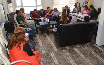 رئيس الهيئة في دهوك يسلط الضوء على العديد من القضايا المهمة المتعلقة بحقوق الانسان