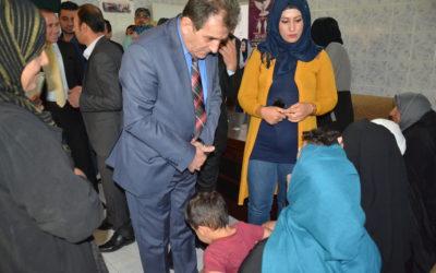 رئىس الهيئة يتابع اوضاع النازحين العراقين المتواجدين في جمجمال