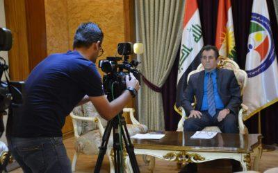 في لقاء مباشر مع قناة Rudaw حول قضية المهاجرين الكورد في تركيا واليونان والاتجار بهم .