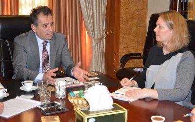 مبعوث السفارة الكندية في العراق الفدرالي تلتقي برئيس الهيئة